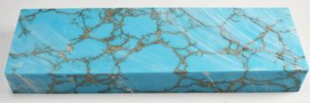 #20 Turquoise with Gold Matrix Tru-Stone block 0.66